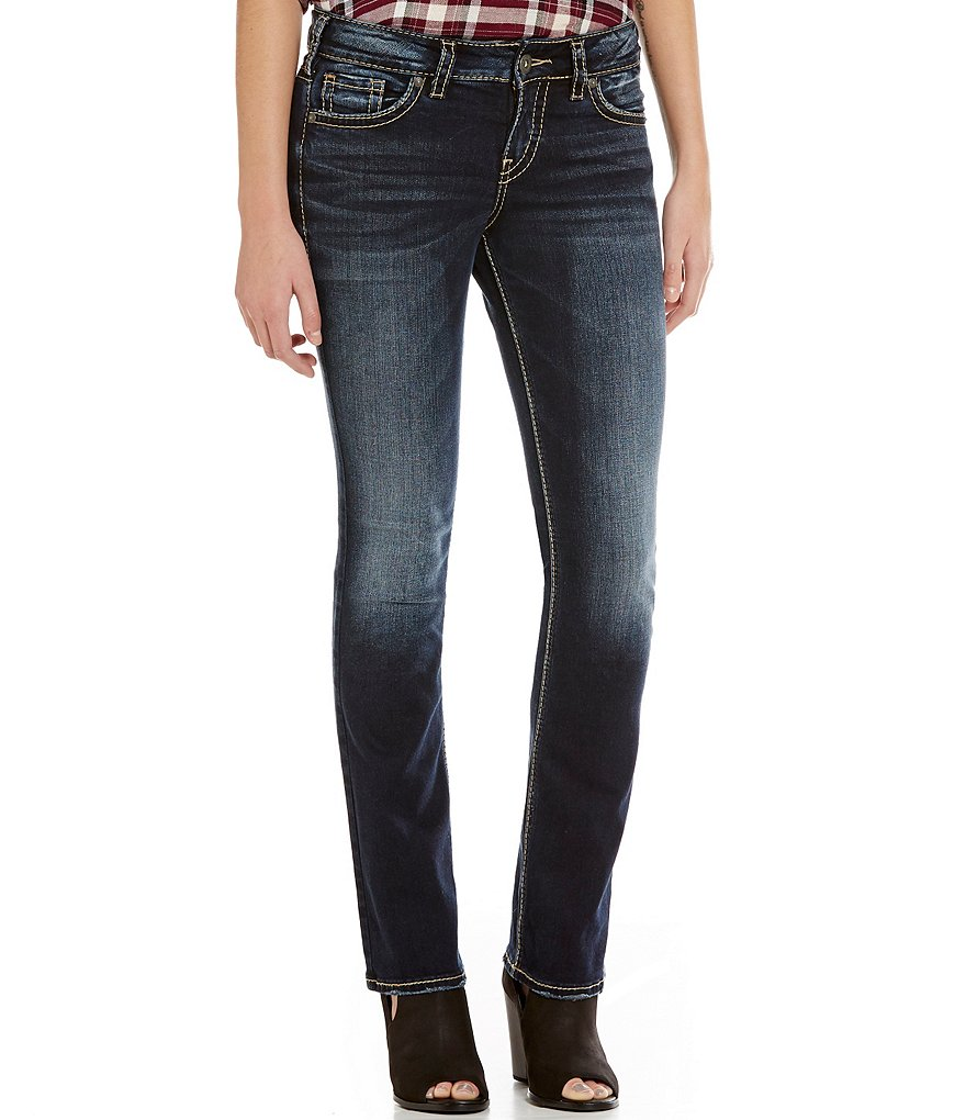 Silver Jeans Co. Elyse Slim-Fitting Mid-Rise Faded Bootcut Denim Jeans