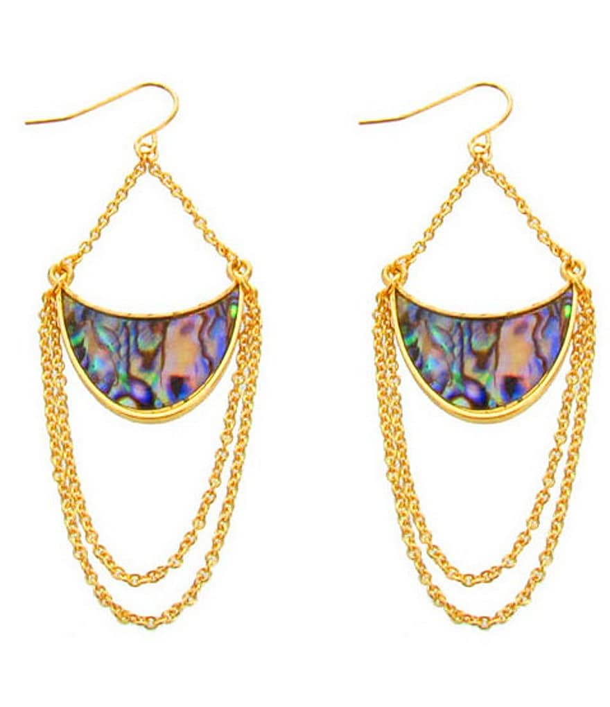 Panacea Abalone Half Moon Drop Earrings