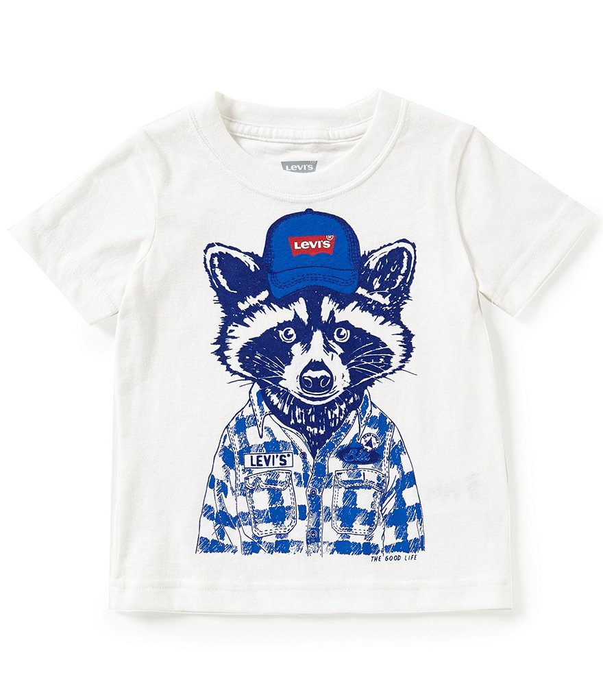 Levi's® Little Boys 2T-4T Racoon Graphic Tee