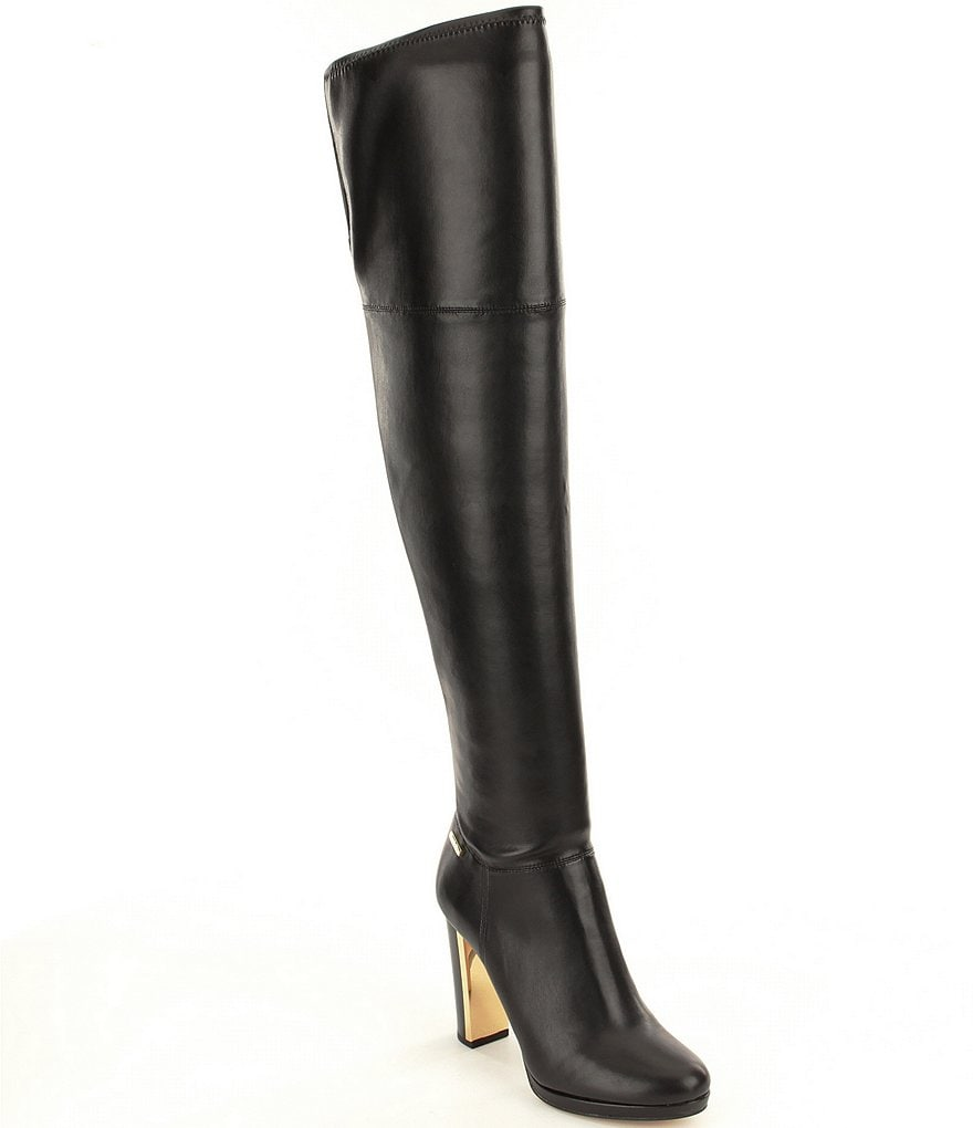 Calvin Klein Polomia Over The Knee Stretch Boots
