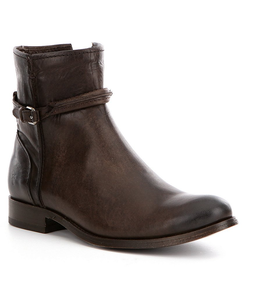 Frye Melissa Antique Leather Zip Up Ankle Boots