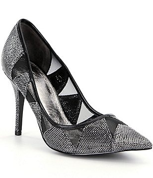 Adrianna Papell Addison Metallic Fabric Mesh Pointed-Toe Pumps