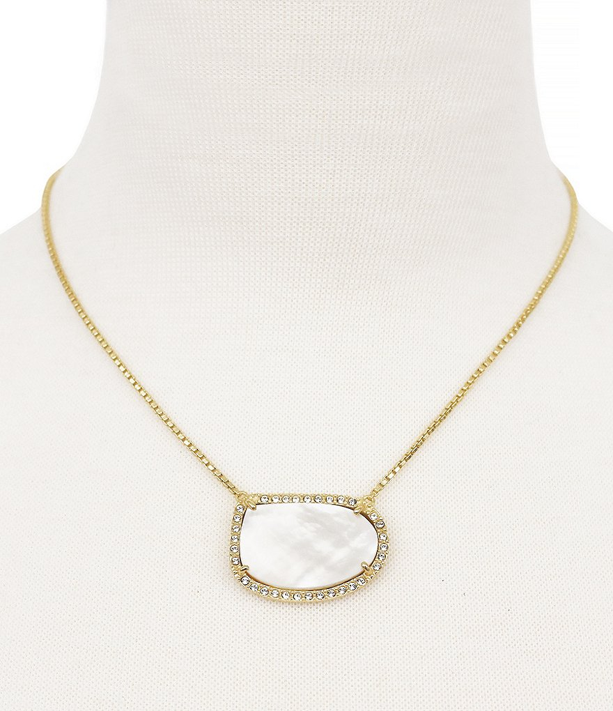 Louise Et Cie Shell Stone Pendant Necklace