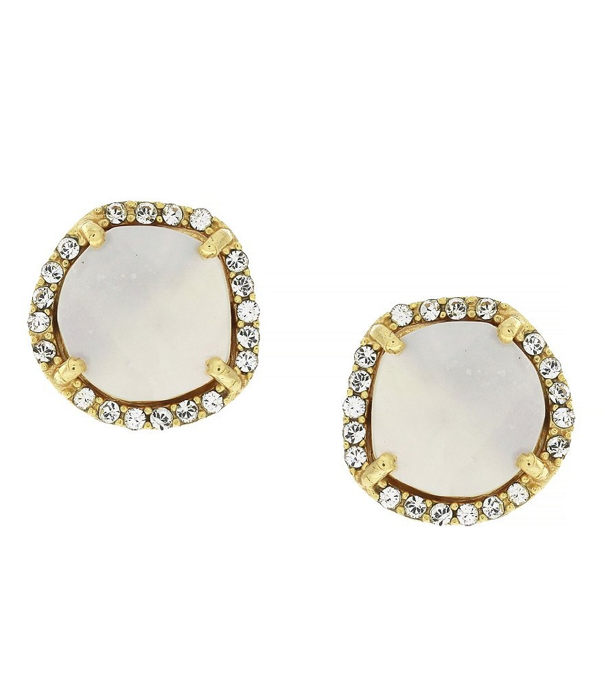 Louise et Cie Shell Pearl Stud Earrings