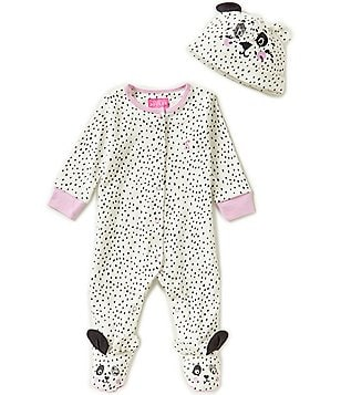 Joules Baby Girls Newborn-12 Months Paw-Print Footed Coverall