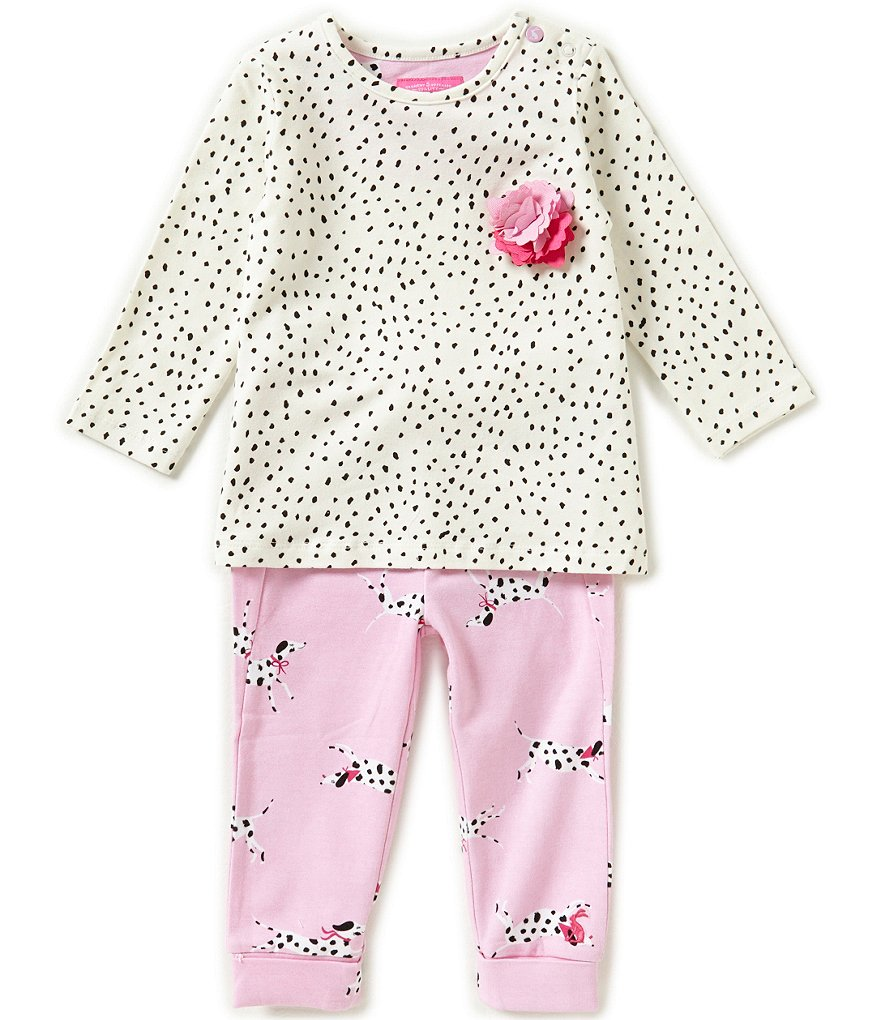 Joules Baby Girls Newborn-12 Months Printed Top and Pants Set