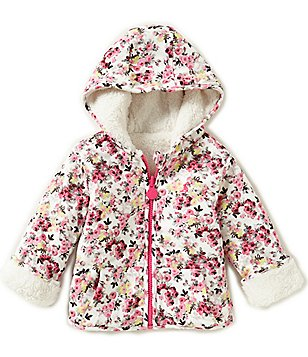 Joules Baby/Little Girls 12 Months-3T Reversible Fleece Hooded Sweatshirt