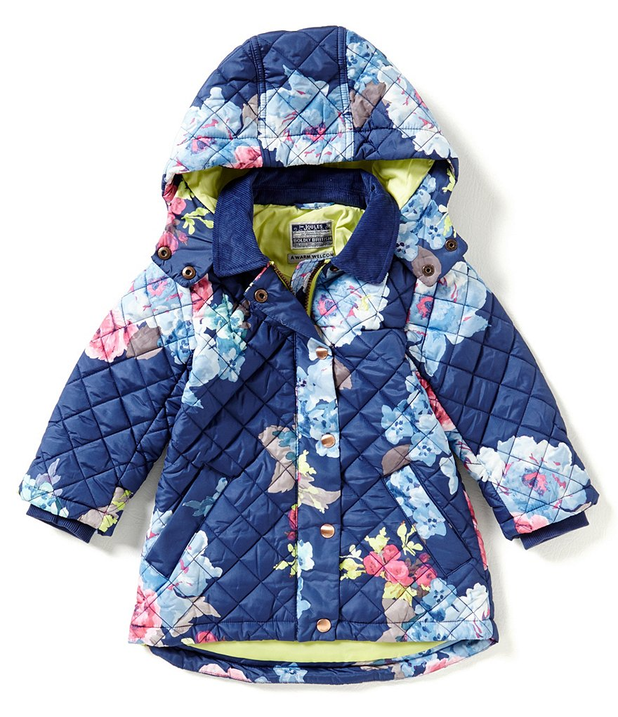 Joules Little Girls 3-6 Marcotte Floral Quilted Coat