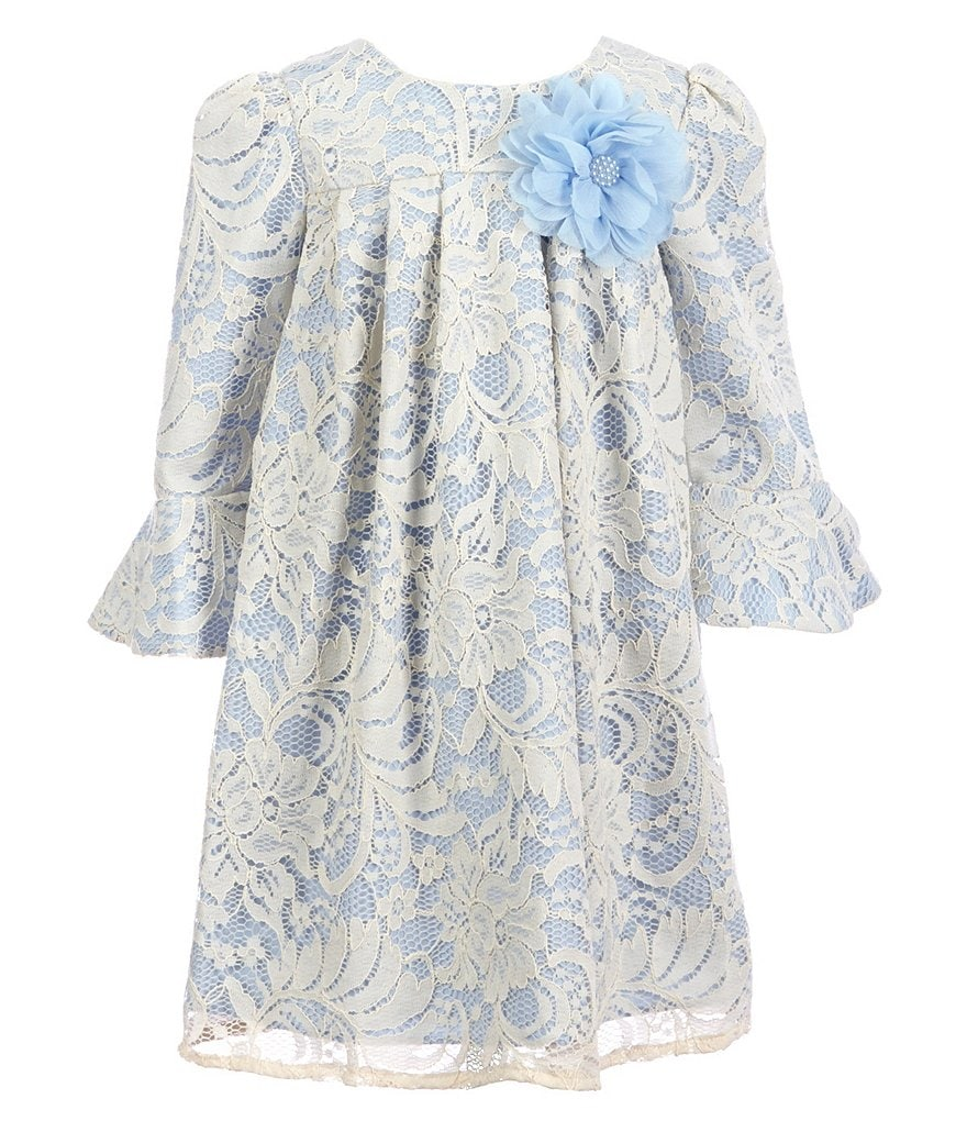 Laura Ashley London Little Girls 2T-6X Floral Lace Floral-Appliqué Dress