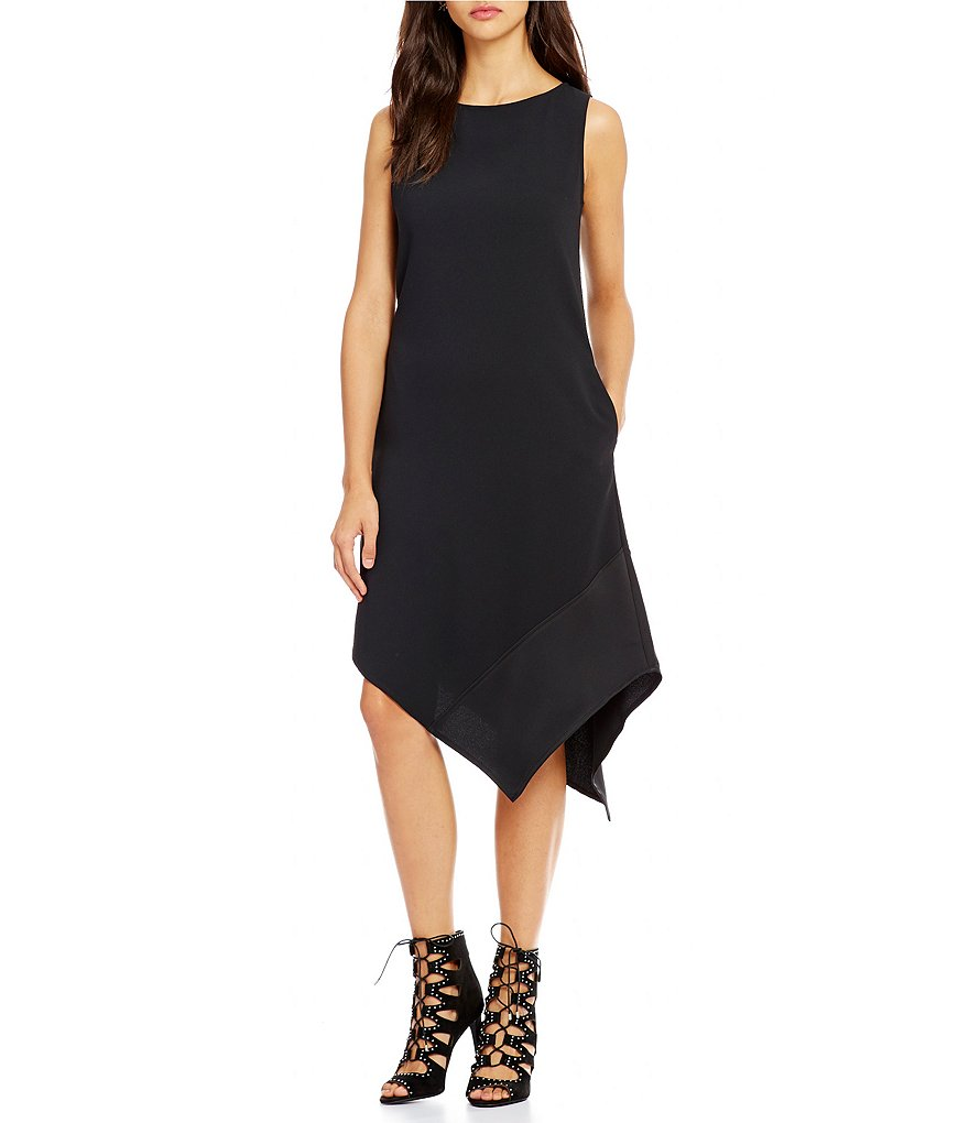 Trina Turk Joyous Hi-Low Pointed Hem Shift Dress