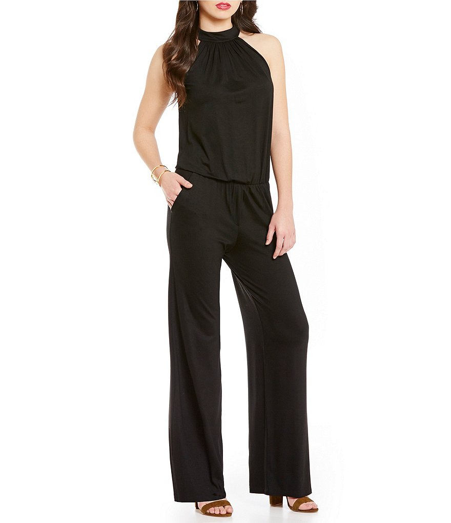 Trina Turk Maki Knit Mock-Neck Jumpsuit