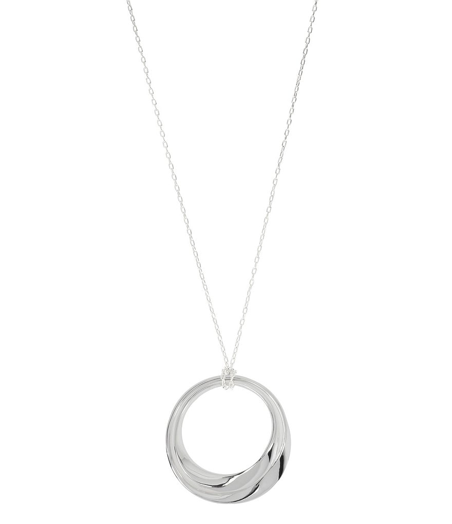Robert Lee Morris Soho Sculptural Double Circle Pendant Necklace
