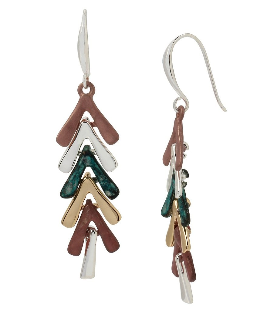 Robert Lee Morris Soho Geometric Linear Drop Earrings