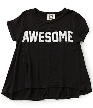 People´s Project LA Big Girls 7-16 Silk Screen Awesome Graphic Tee