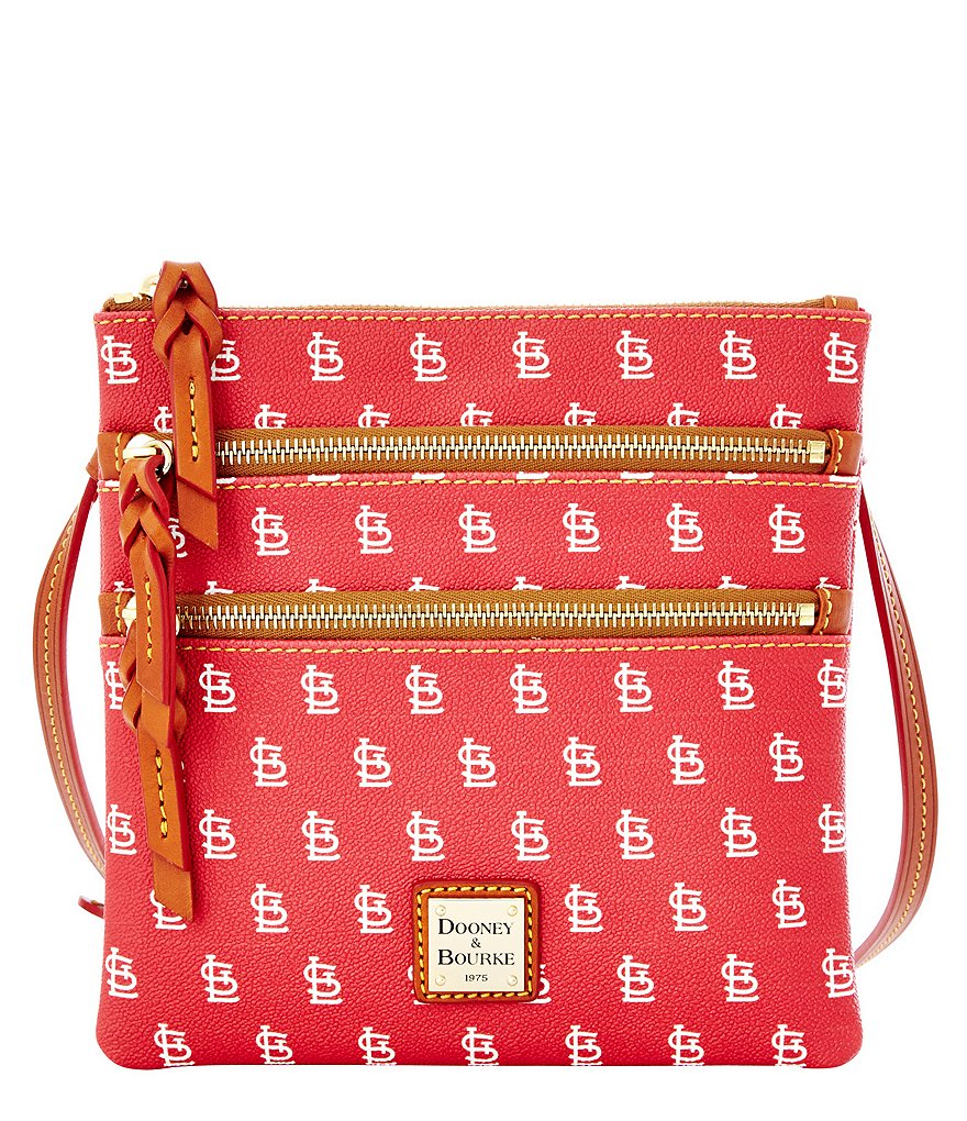 Dooney & Bourke MLB Collection St Louis Cardinals Triple Zip Cross-Body Bag