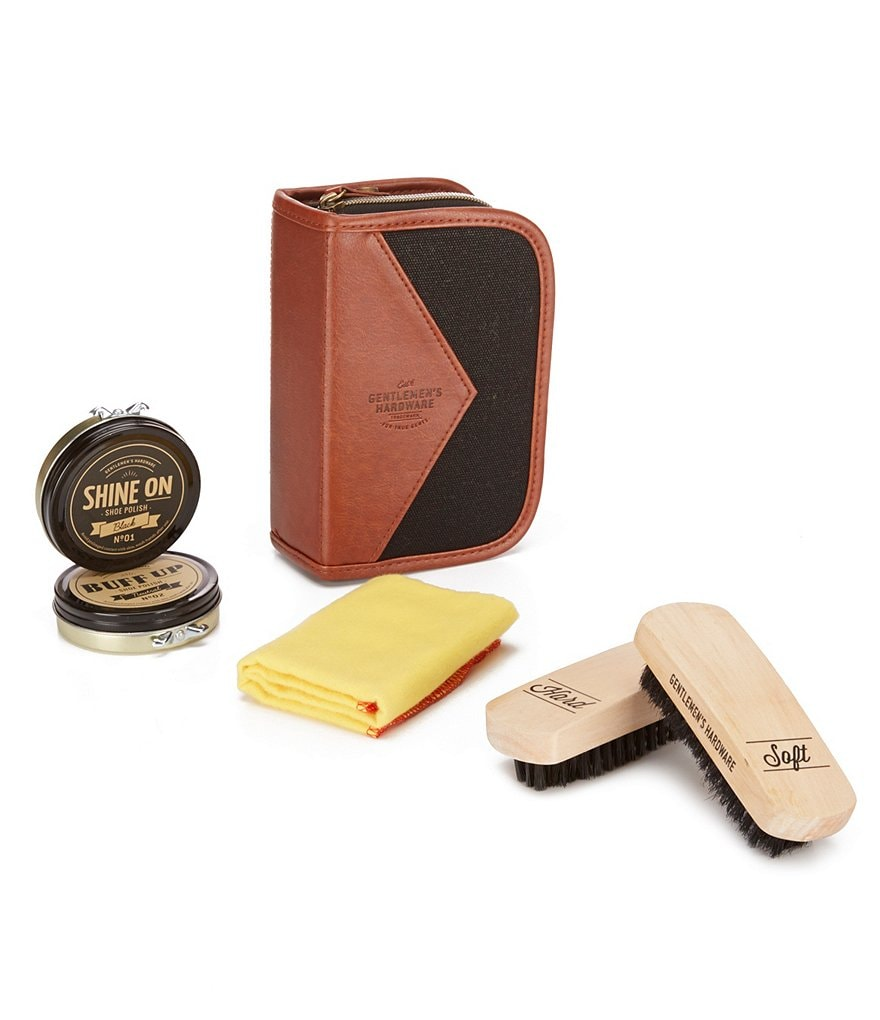 Wild & Wolf Travel Shoe Shine Kit