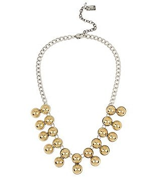 Kenneth Cole New York Two-Tone Ball Frontal Necklace