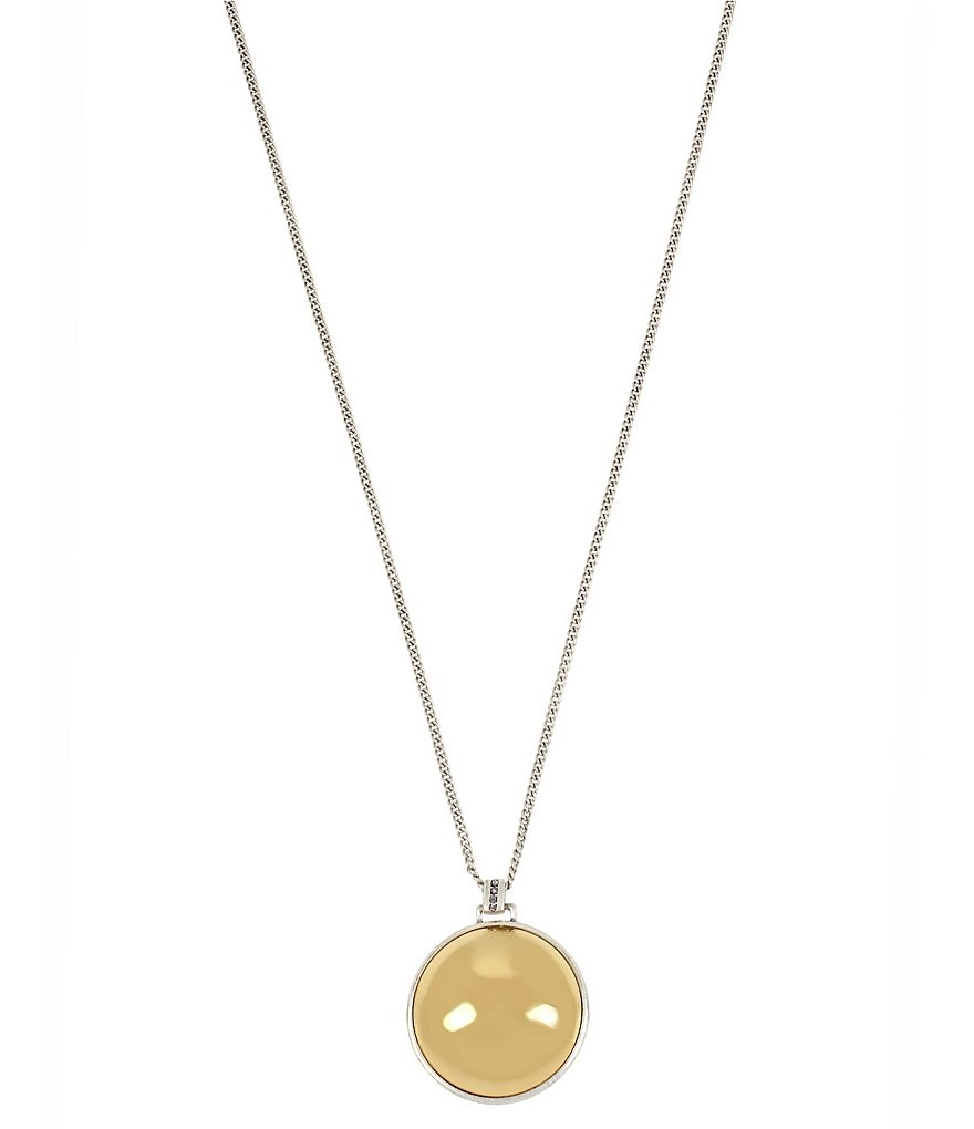 Kenneth Cole New York Two-Tone Ball Pendant Necklace