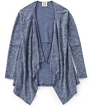 People´s Project LA Big Girls 7-16 Open-Front Draped Quincy Cardigan