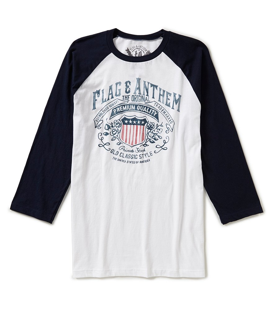 Flag & Anthem Whiskey Color Block Raglan-Sleeve Graphic Tee