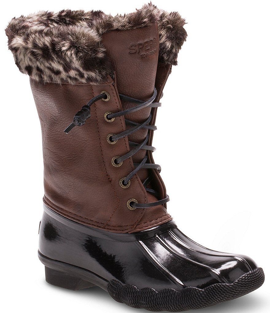 Sperry Girls´ Faux Fur Saltwater Boots