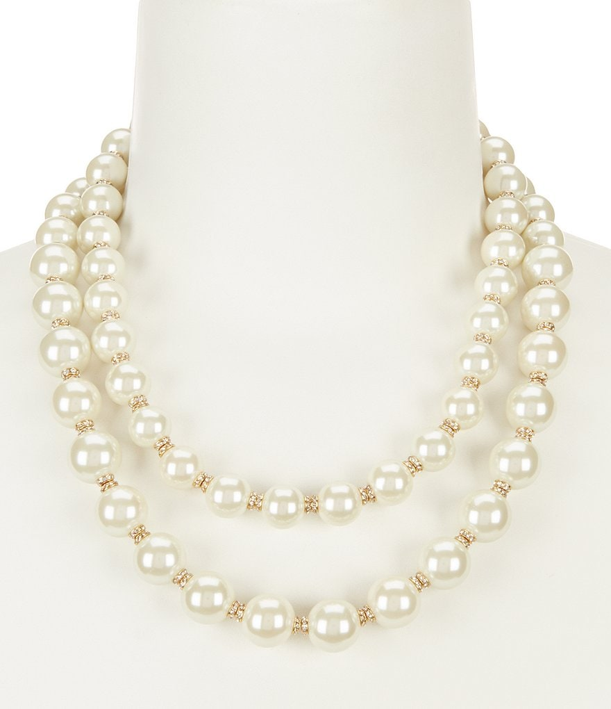 kate spade new york Pearls of Wisdom Double-Strand Necklace