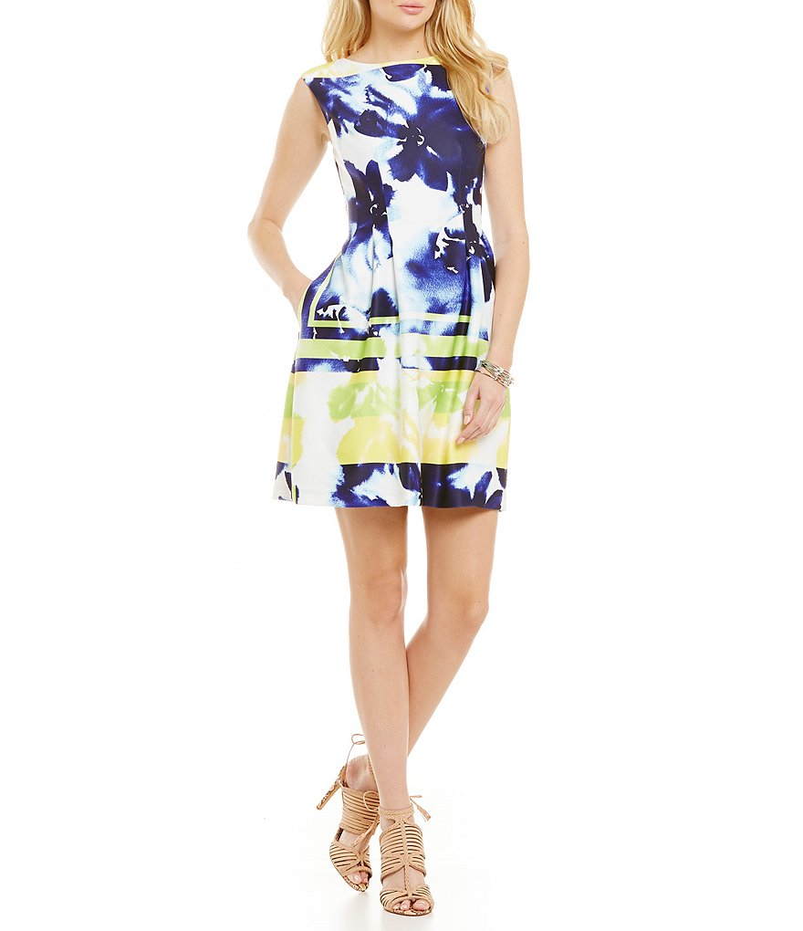 Vince Camuto Floral Border Dress