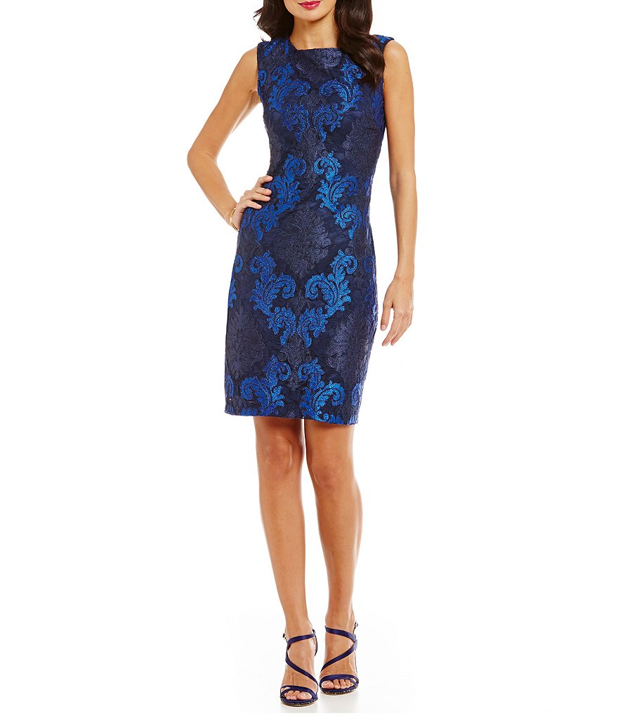 Vince Camuto Lace Paisley Sheath Dress