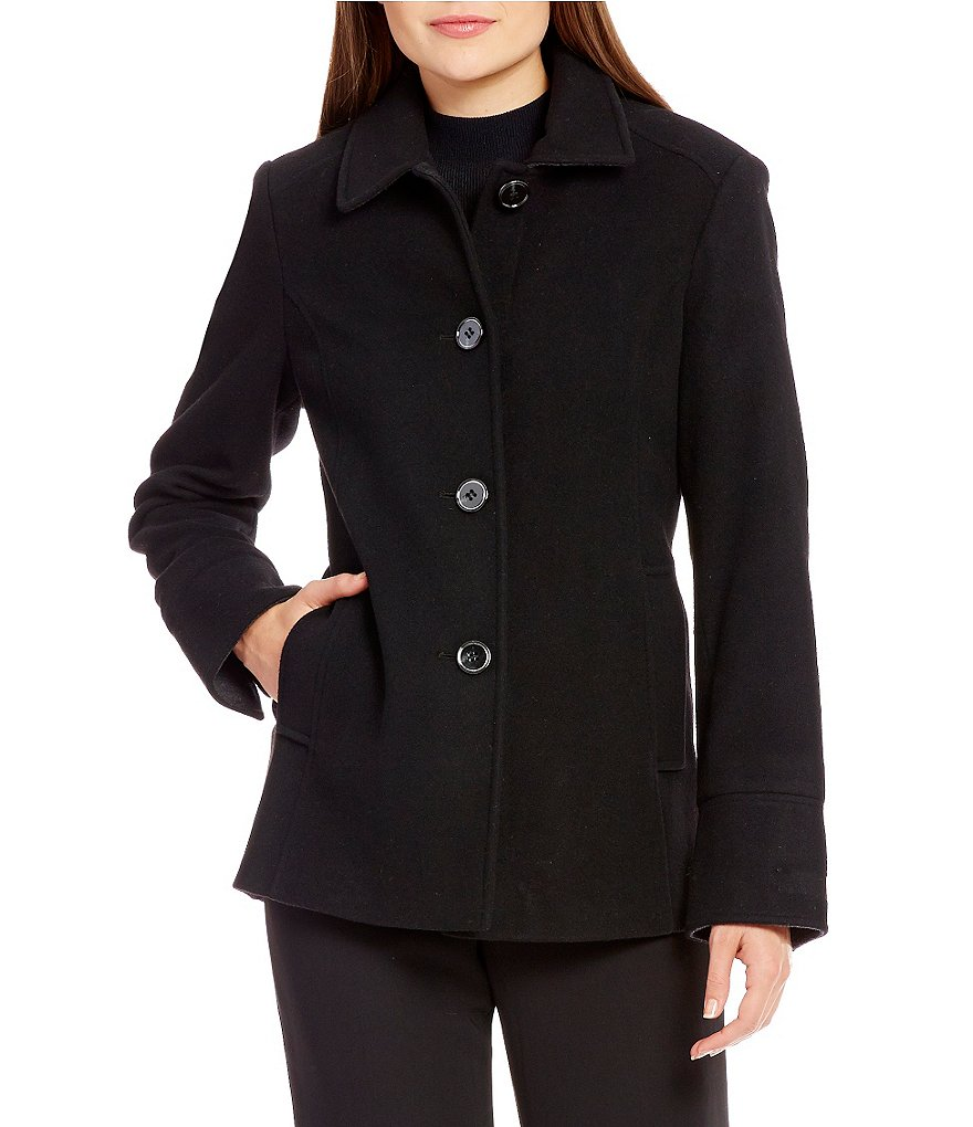 Preston & York Single Breasted Wool Barn Coat