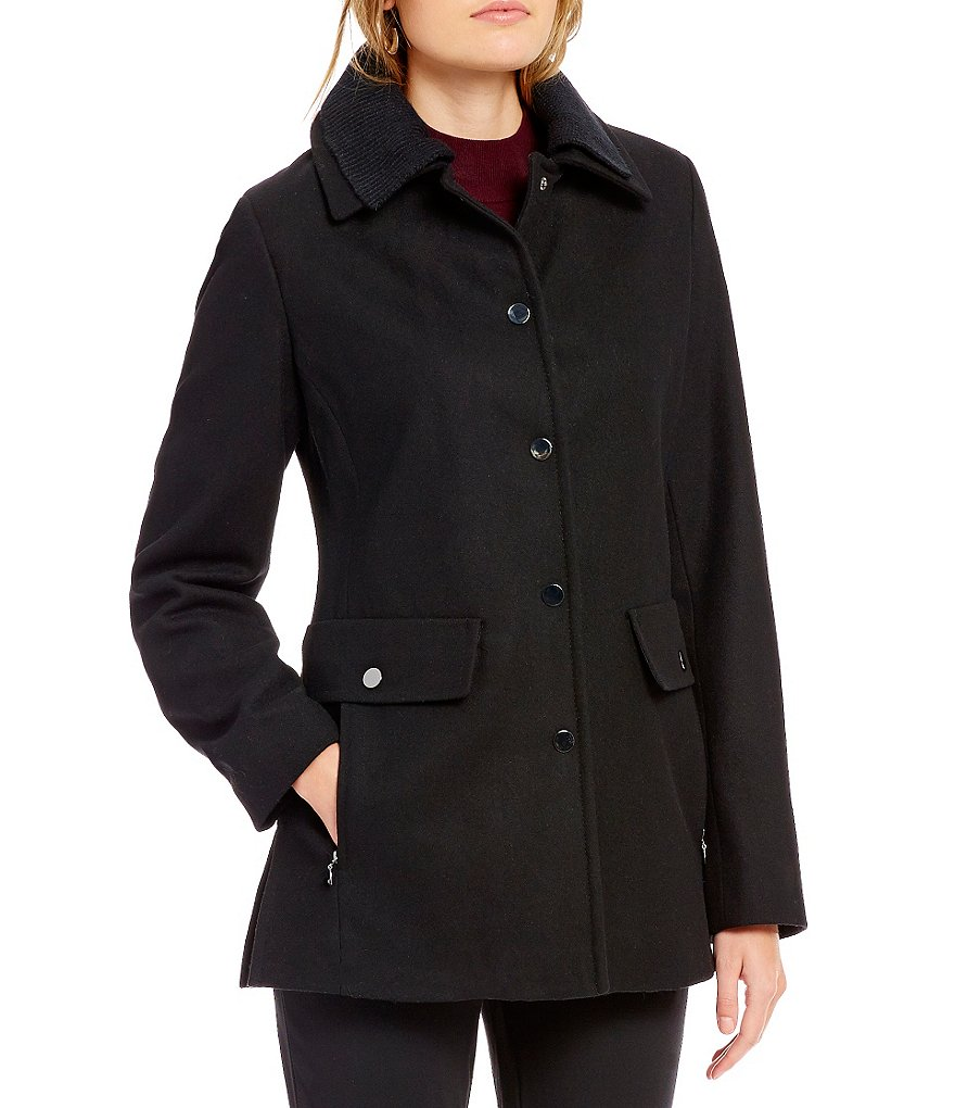 Preston & York Snap Front Wool Coat