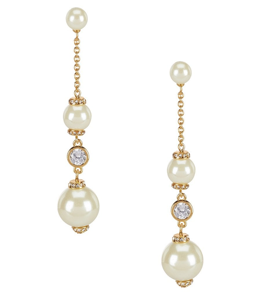 kate spade new york Pearls of Wisdom Linear Drop Earrings