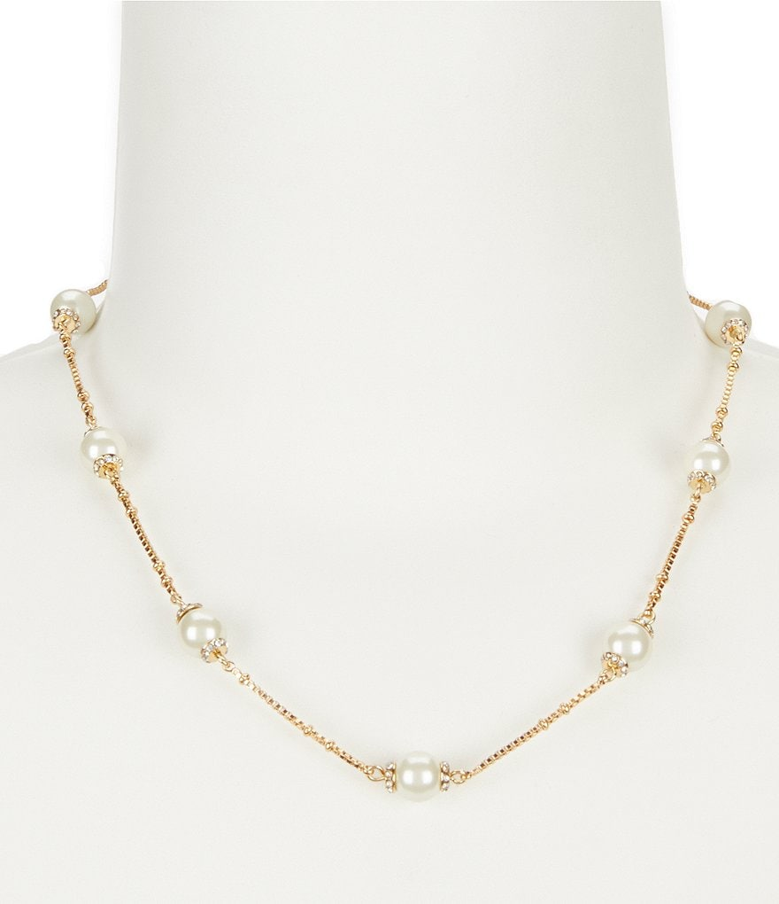 kate spade new york Pearls of Wisdom Station Necklace
