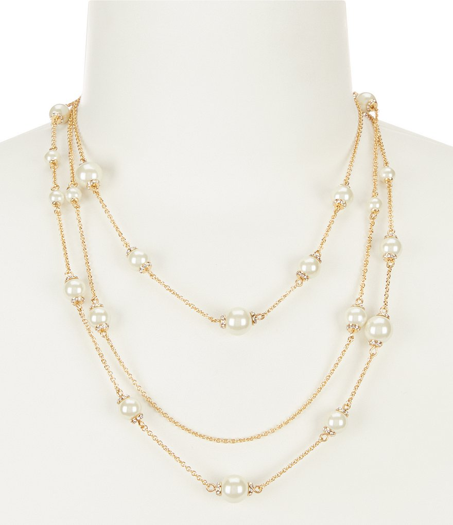 kate spade new york Pearls of Wisdom Multi-Strand Necklace