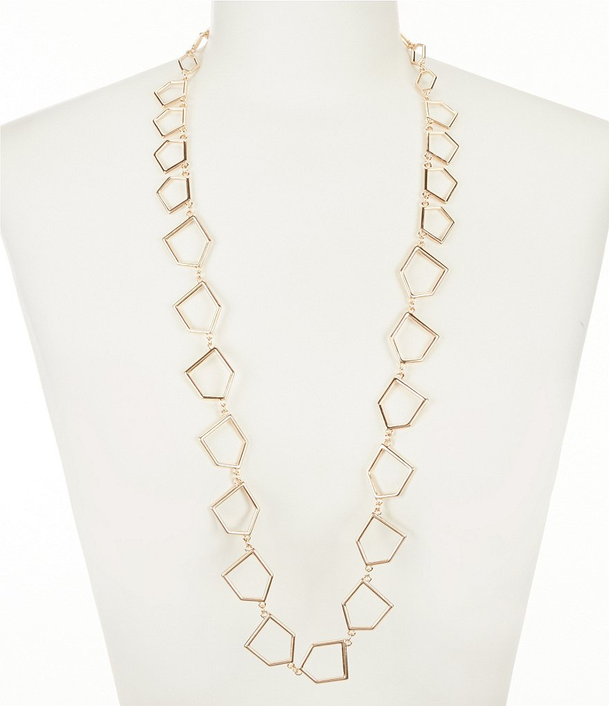 Natasha Accessories Trapezoid Link Necklace