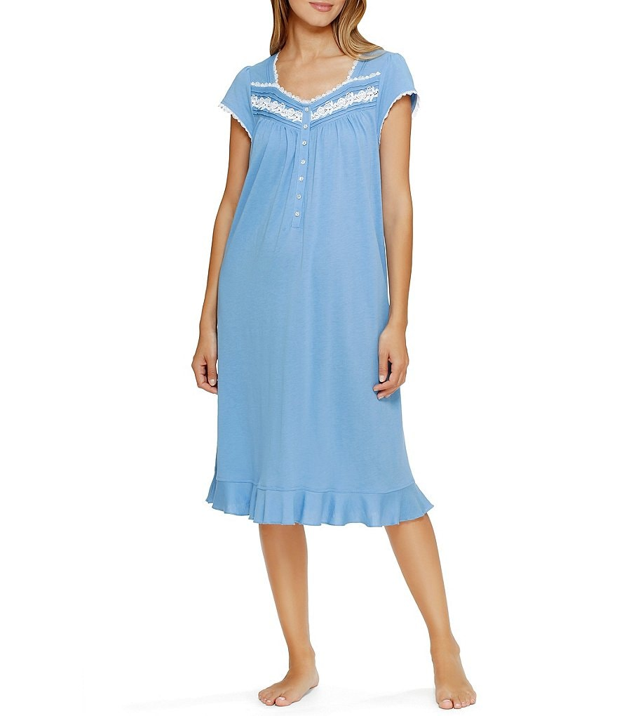 Eileen West Modal Cap-Sleeve Waltz Nightgown