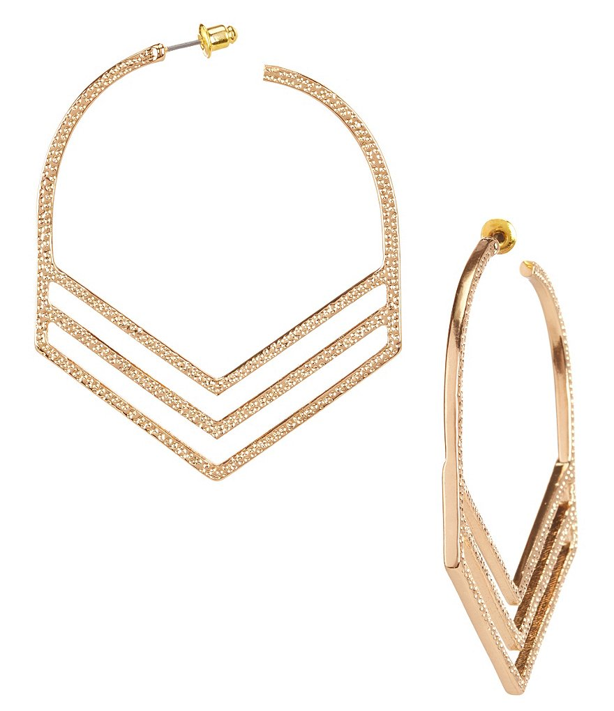 Natasha Accessories Military Hoop Earrings