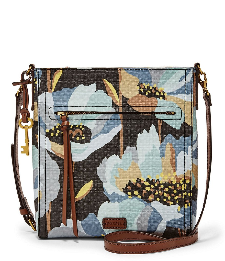 Fossil Emma Floral North/South Cross-Body Bag