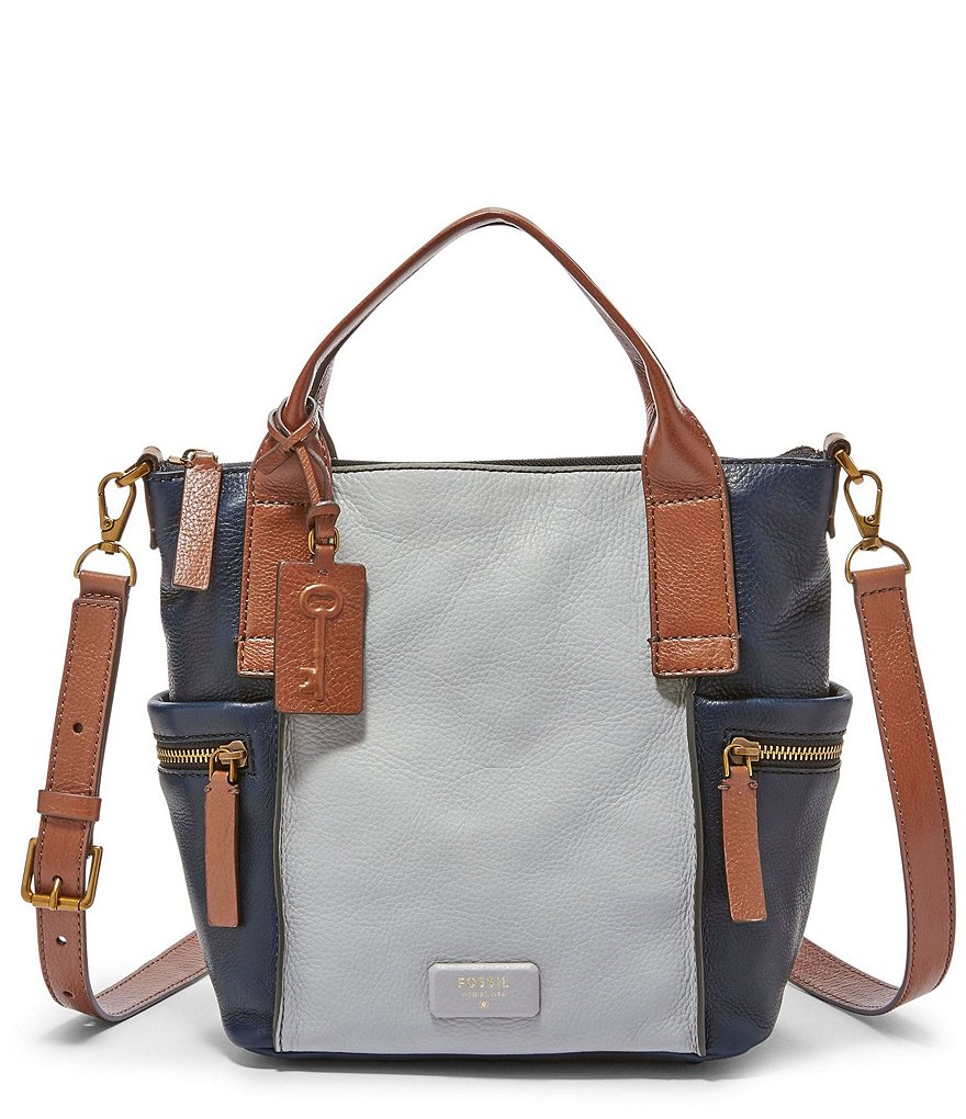 Fossil Emerson Colorblocked Medium Satchel