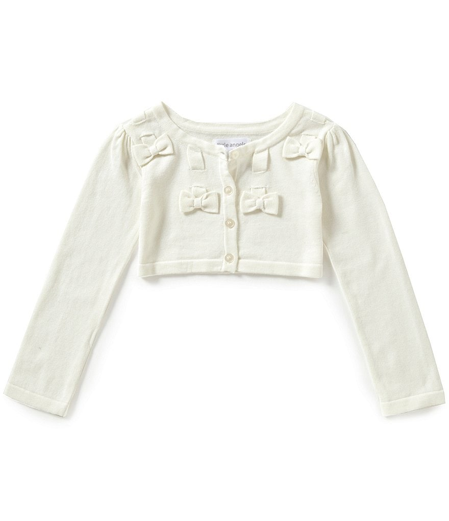 Little Angels by Us Angels Little Girls 2T-6X Bow Cardigan