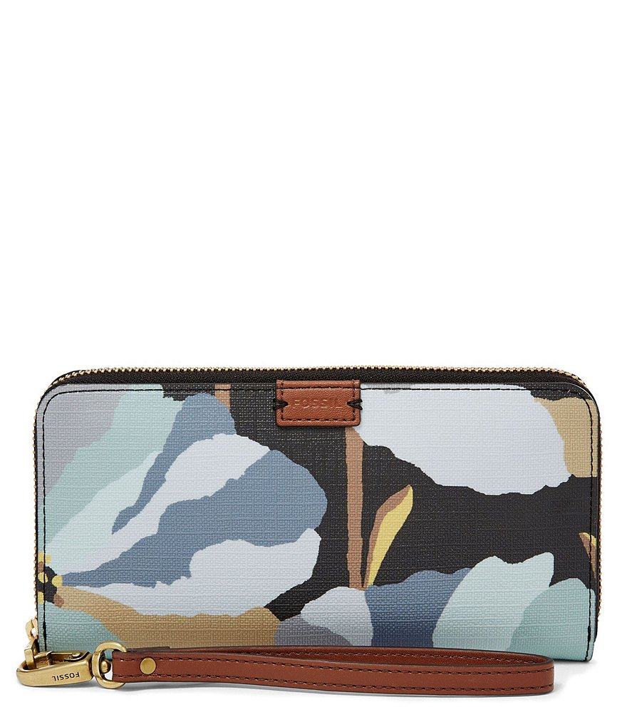 Fossil Emma Floral RFID Large Zip Clutch
