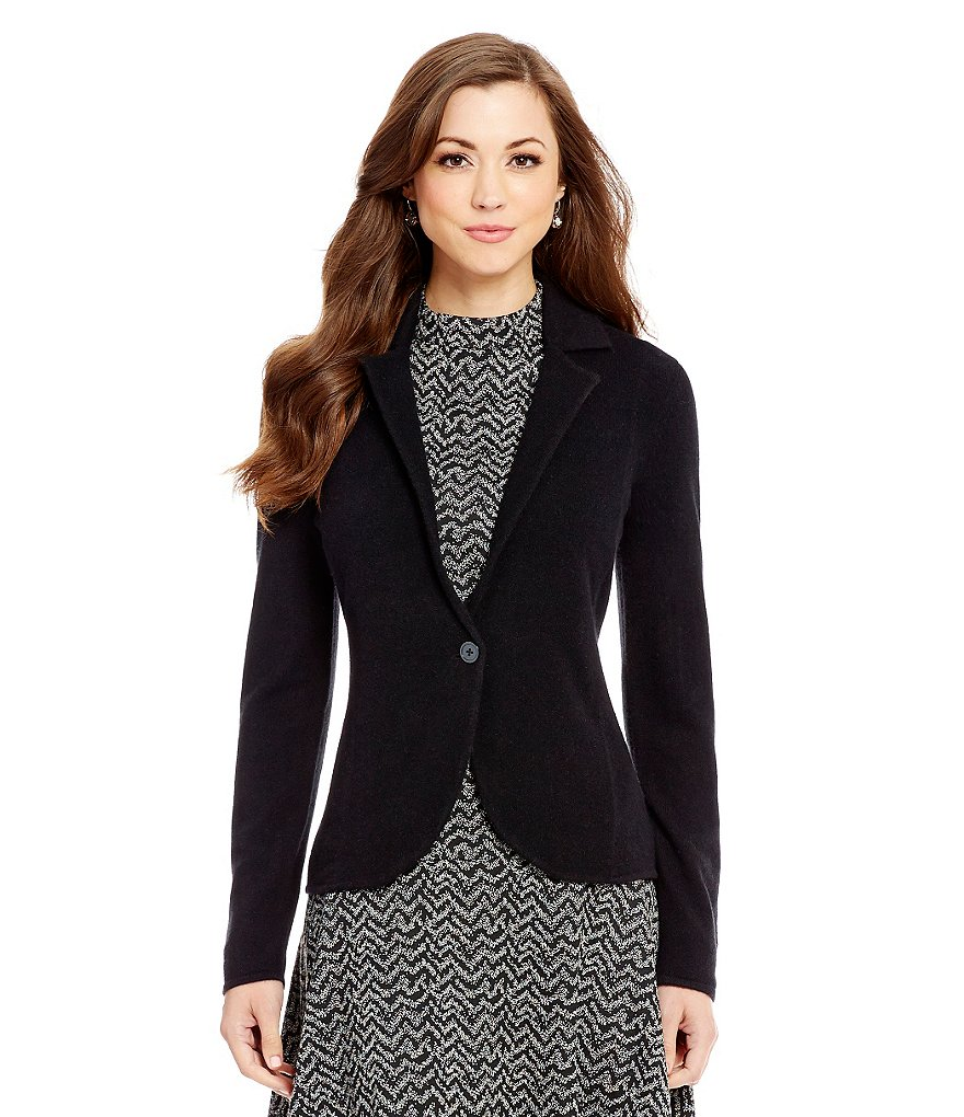 Antonio Melani Cashmere Darcy Notch Collar Cardigan