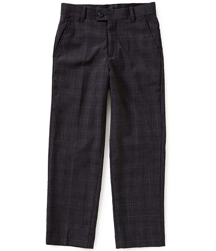 Class Club Gold Label Big Boys 8-20 Glen Plaid Dress Pants