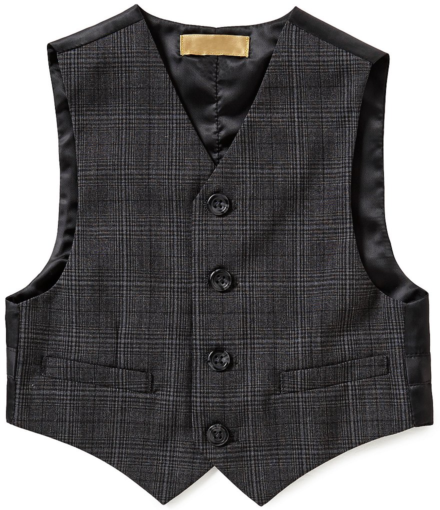 Class Club Little Boys 2T-7 Glen Plaid Vest