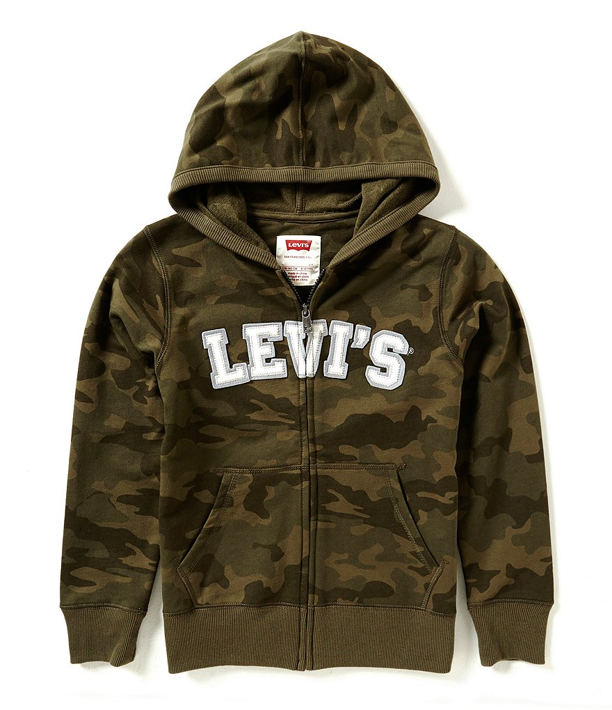 Levi´s Big Boys 8-20 Baldwin Camouflage-Printed Marled French Terry Hoodie