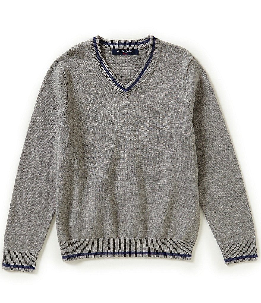 Brooks Brothers Little/Big Boys 4-20 V-Neck Long-Sleeve Sweater