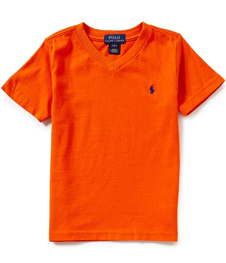 Ralph Lauren Childrenswear Little Boys 2T-7 Short-Sleeve V-Neck Tee