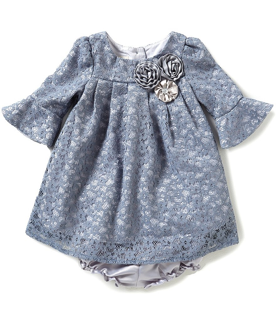Laura Ashley London Baby Girls 12-24 Months Bell-Sleeve Lace Dress
