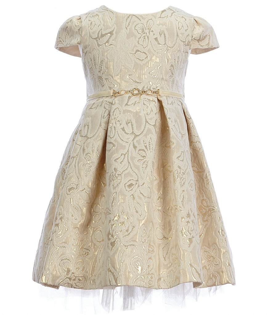Laura Ashley London Little Girls 2T-6X Brocade Dress