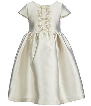 Laura Ashley London Little Girls 2T-6X Lace-Placket Skater Dress