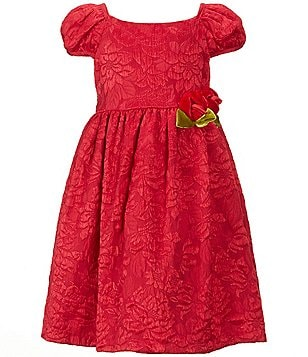 Laura Ashley London Little Girls 2T-6X Floral-Applique Embroidered Dress